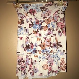 Flows layered strapless floral top